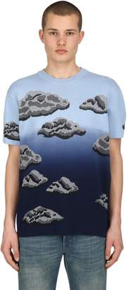 Kenzo Cloud Cotton Blend Jacquard T-Shirt