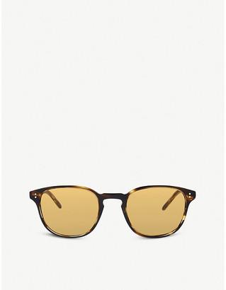 Oliver Peoples Ov5219s Fairmont Sun round frame sunglasses