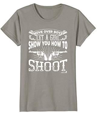 Womens Gun Pistol Shooting Range TShirt for Girls Women! Medium