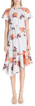 Etro Asymmetric Floral Cotton Dress