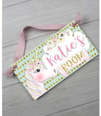 DAY Birger et Mikkelsen Toad and Lily Unicorn Personalized Door Sign
