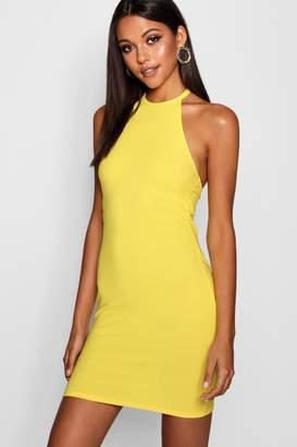 boohoo Tall High Neck Mini Dress