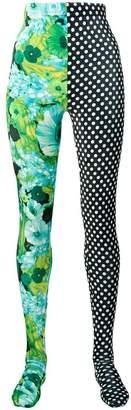 Richard Quinn polka dot print leggings