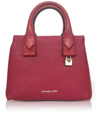 Michael Kors Rollins Small Pebbled Leather Satchel