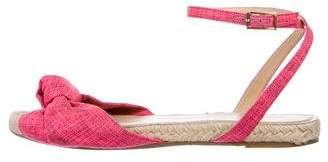 Charlotte Olympia Canvas Flat Sandals