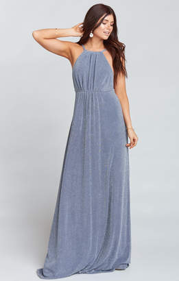 Show Me Your Mumu Amanda Maxi Dress ~ Dancing Queen Shine Smoke