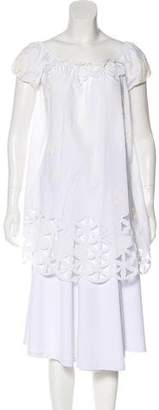 Blumarine Off-The-Shoulder Short Sleeve Tunic