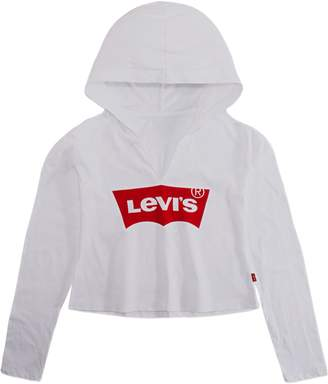 Levi's Girl's Cropped Cotton Jersey Hoodie