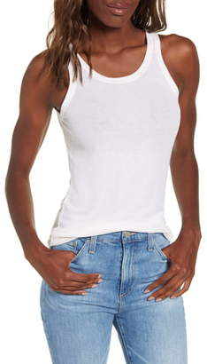 AG Jeans Ebby Fitted Ribbed Tank