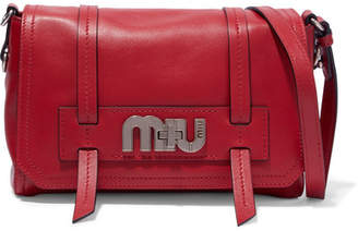 Miu Miu Grace Leather Shoulder Bag - Red