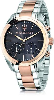 Maserati Traguardo Two Tone Stainless Steel Chrono Men's Watch
