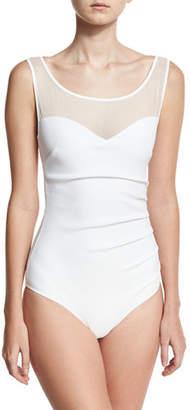 La Petite Robe di Chiara Boni Agave Illusion One-Piece Swimsuit $360 thestylecure.com