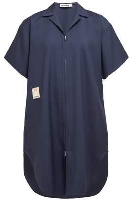 Jil Sander Gunner Wool Long Line Shirt - Womens - Navy