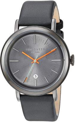 Ted Baker Men's 'CONNOR' Quartz Stainless Steel and Leather Dress Watch, Color: (Model: 10031507)