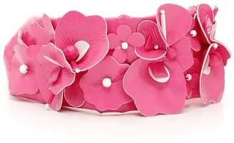Miu Miu Patent Flowers Headband