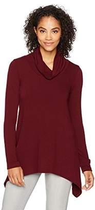 Karen Kane Women's Funnel Neck Curved Hem Sweater