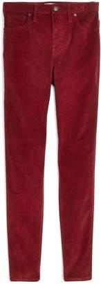 Madewell 10-Inch High Waist Corduroy Skinny Jeans