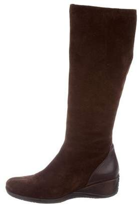 Aquatalia Knee-High Wedge Boots