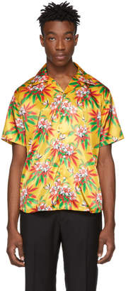 SSS World Corp Yellow Weed Hibiscus Hawaiian Shirt