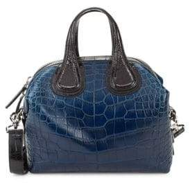Givenchy Nightingale Small Bicolor Crocodile Satchel
