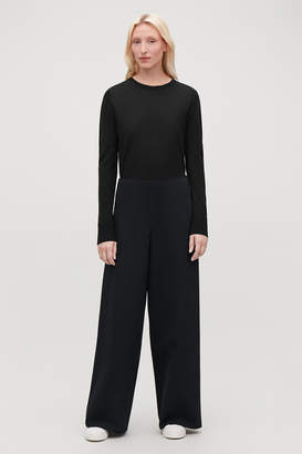 Cos ELASTIC-DETAIL JERSEY TROUSERS
