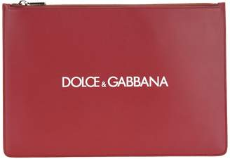 Calfskin Document Holder With Printed Logo
