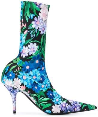 Balenciaga floral print Knife boots