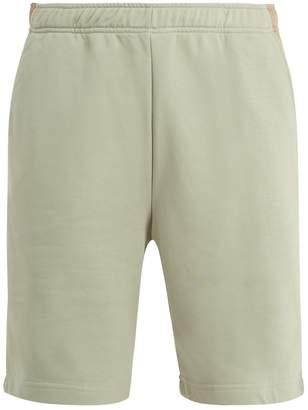 Fendi Mid-rise elasticated-waist cotton-blend shorts