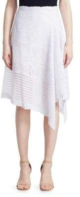 Jonathan Simkhai Embroidered Flare Skirt