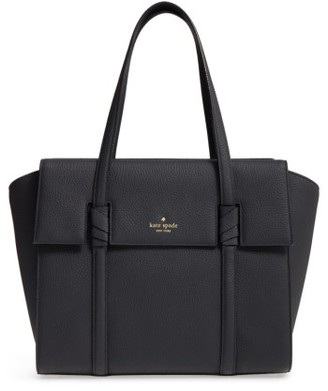 Kate Spade New York Daniels Drive - Abigail Satchel - Black $448 thestylecure.com