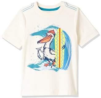Tea Collection [ティコレクション] Surfing Pelican Graphic Tee 子供服 キッズ 男の子 ボーイズ インポート コットン Tシャツ カットソー サーフ ペリカン ボーイズ 8S22128R-061 オフホワイト US 4T(4~5歳):日本サイズ約100~110cm (日本サイズ110 相当)