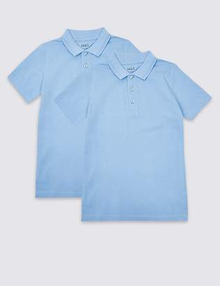 Marks and Spencer 2 Pack Boys' Slim Fit Polo Shirts