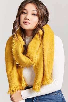 Forever 21 Fuzzy Knit Oblong Scarf