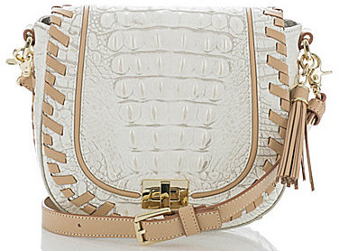 BrahminBRAHMIN Brahmin Summer Dalton Collection Tasseled Whip-Stitched Mini Sonny Saddle Bag