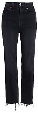 RE/DONE Women's High-Rise Stovepipe Comfort Stretch
