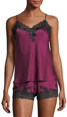 Christine Designs Silk-Blend Camisole Pajama Set
