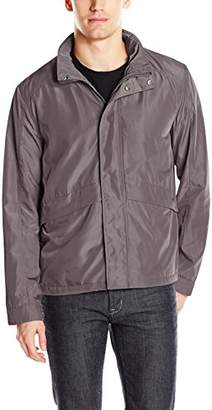 Cole Haan Men's Open Bottom Trucker Packable Rain Jacket