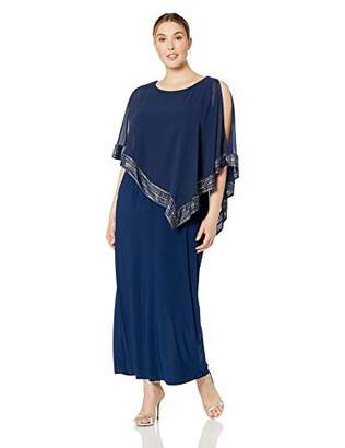 ea3174a0e38 S.L. Fashions Women s Plus Size Cape Dress