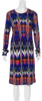 Missoni Printed Long Sleeve Dress