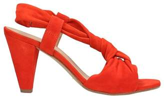 Janet & Janet Suede Red Sandals
