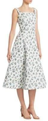 Erdem Polly A-Line Midi Dress