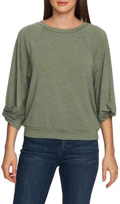 1 STATE 1.STATE Twist Knot Sleeve Crewneck Top