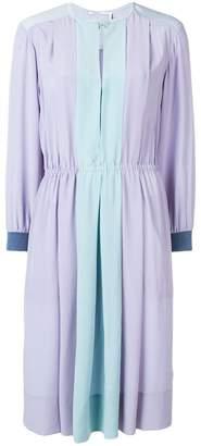 Agnona crepe de chine colourblock dress