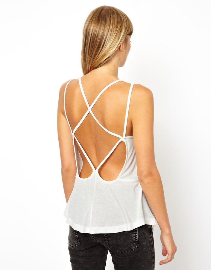 Asos Swing Cami Top with Strap Detail