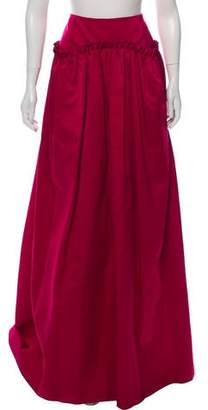 Maison Rabih Kayrouz Pleated Full Skirt