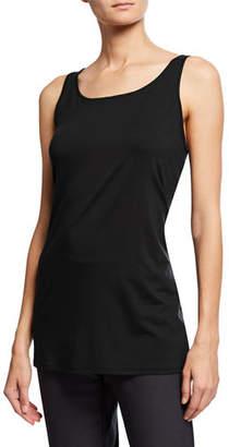 Eileen Fisher Scoop-Neck Long Jersey-Knit Tank, Plus Size