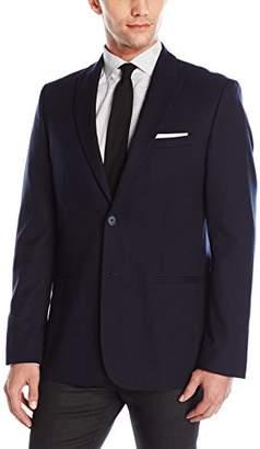 Calvin Klein Men's Two Button Peak Lapel Houndstooth Jacquard Sportcoat