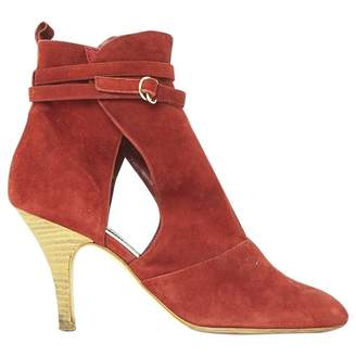 Vanessa Bruno Burgundy Suede Ankle boots