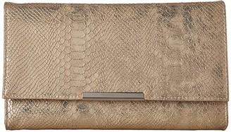 Jessica McClintock Nora Metallic Snake Large Envelope Clutch