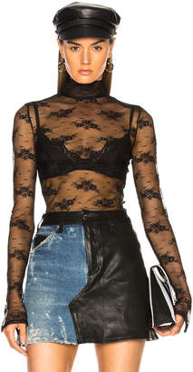 Amiri Lace Turtleneck Top